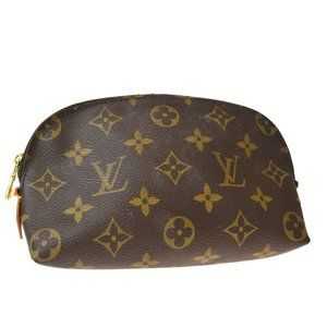 LOUIS VUITTON Cosmetic Pouch Monogram Leather Brow